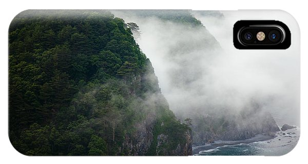 IPhone Case featuring the photograph Mist Over Kitayamazaki by Brad Brizek