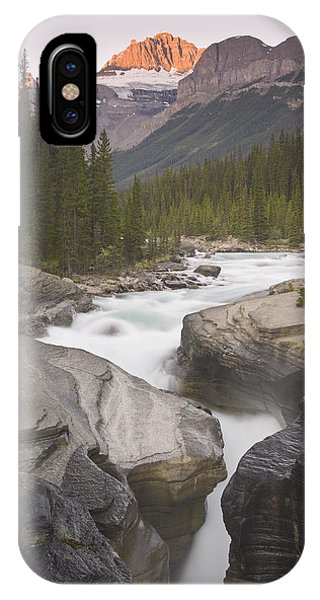Mistaya Canyon And Mount Sarbach IPhone Case