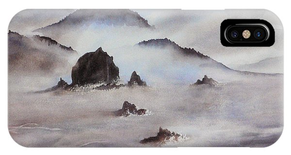 Mists Of Haystack Rock IPhone Case