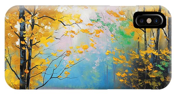 Amber iPhone Case - Misty Autumn Day by Graham Gercken