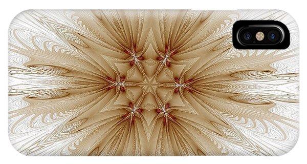 Misty Brown Mandala IPhone Case