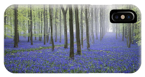 Misty Dawn Bluebell Wood Phone Case by Tim Gainey