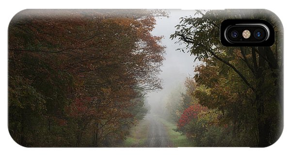 Misty Fall Morning IPhone Case