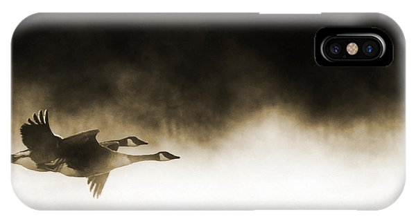 Canada Goose iPhone Case - Misty Flight by Tim Gainey