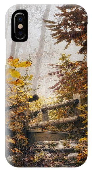 Fog Mist iPhone Case - Misty Footbridge by Scott Norris