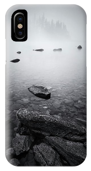 Clear iPhone Case - Misty Lake by Lydia Jacobs