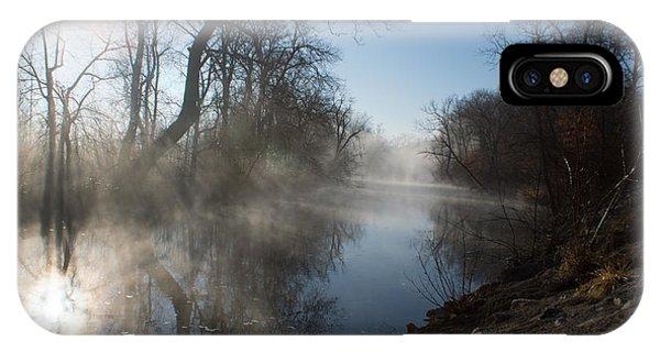 Misty Morning Along James River IPhone Case