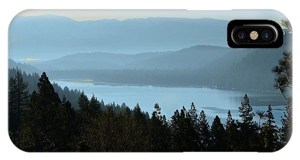 Misty Morning At Donner Lake IPhone Case