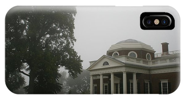 Misty Morning At Monticello IPhone Case