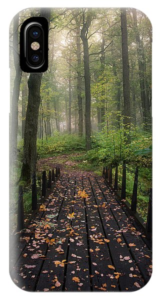 Bridge iPhone Case - Misty Morning by Christian Lindsten