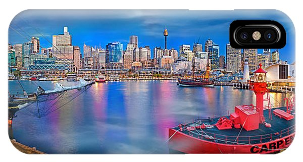 Full Moon iPhone Case - Misty Morning Harbour by Az Jackson