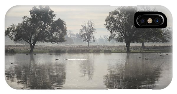 Misty Morning In Bushy Park London 2 IPhone Case