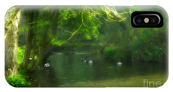 Misty Morning In Clatford IPhone Case