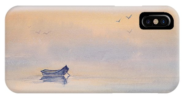 Misty Morning Peace Watercolor Painting IPhone Case