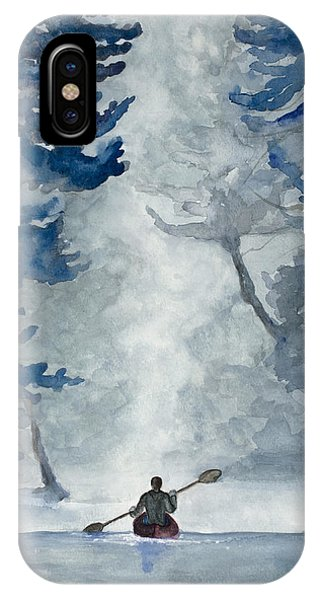 Misty Morning Sojourn IPhone Case