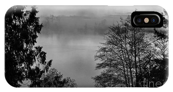 Misty Morning Sunrise Black And White Art Prints IPhone Case
