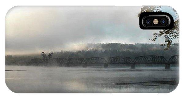Misty Railway Bridge IPhone Case