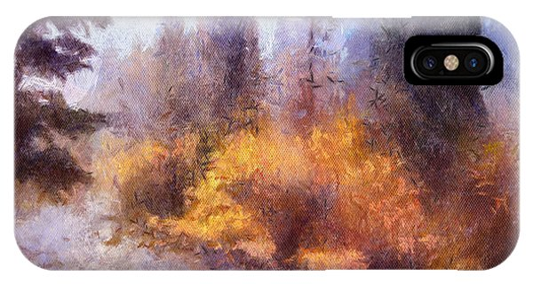 Misty River Afternoon IPhone Case