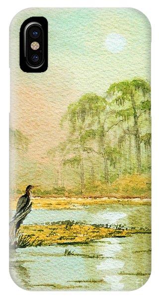 Wakulla iPhone Case - Misty Sunrise At Wakulla by Bill Holkham
