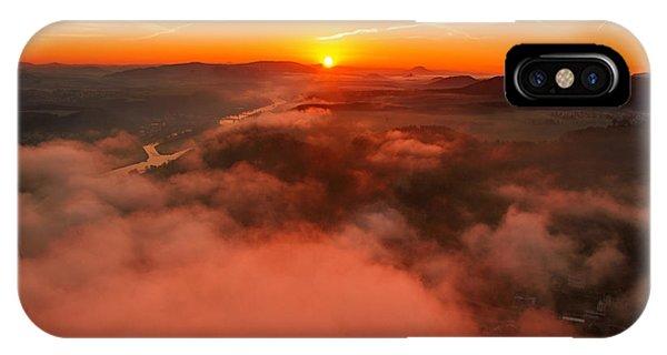 Misty Sunrise On The Lilienstein IPhone Case