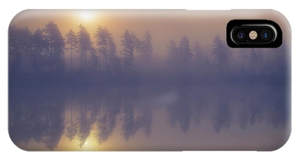 Swedish iPhone Case - Misty Trees by Andreas Christensen