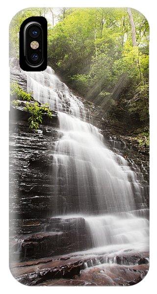 Chilhowee iPhone Case - Misty Waterfall by Debra and Dave Vanderlaan