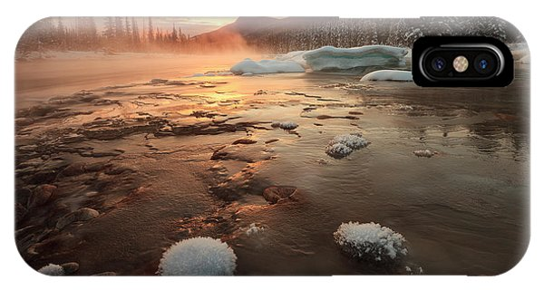 Frost iPhone Case - Misty Winter Morning by Hong Zeng