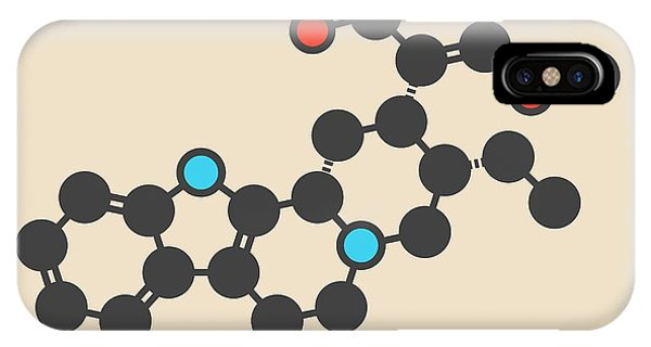 Chronic Pain iPhone Case - Mitragynine Molecule by Molekuul/science Photo Library