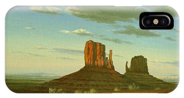 Monument Valley iPhone Case - Mitten Buttes by Paul Krapf