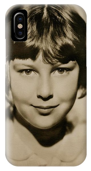 Child Actress iPhone Case - Mitzi Green (1920 - 1969), American by Mary Evans Picture Library