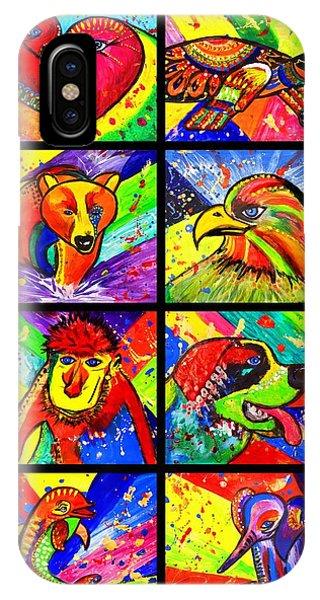 Mix Animal Pop Art IPhone Case