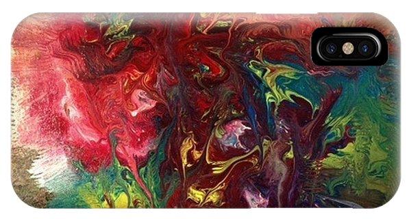 Alfredo Garcia iPhone Case - Mixed Media Abstract Post Modern Art By Alfredo Garcia Bizarre by Alfredo Garcia