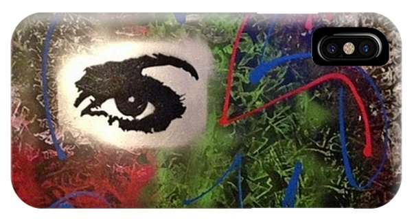 Alfredo Garcia iPhone Case - Mixed Media Abstract Post Modern Art By Alfredo Garcia Eye See You 2 by Alfredo Garcia