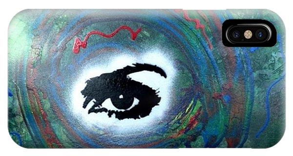 Alfredo Garcia iPhone Case - Mixed Media Abstract Post Modern Art By Alfredo Garcia Eye See You by Alfredo Garcia
