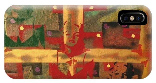 Alfredo Garcia iPhone Case - Mixed Media Abstract Post Modern Art By Alfredo Garcia The Blond Bombshell 3 by Alfredo Garcia