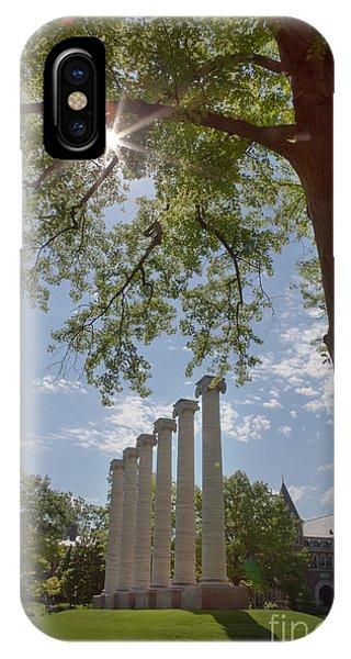 Mizzou Columns Sunflare IPhone Case