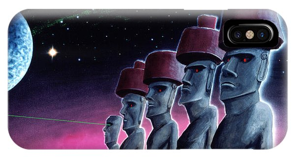 Moai On The Small Planet IPhone Case