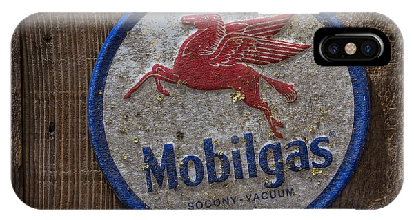 Mobil Gas Sign IPhone Case