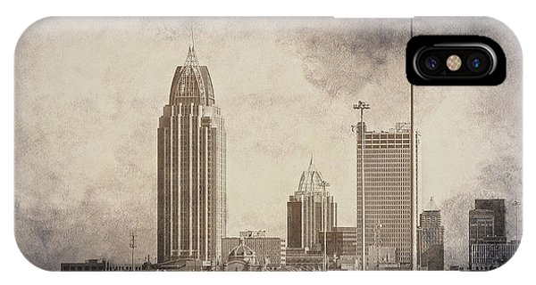 IPhone Case featuring the photograph Mobile Alabama Black And White by Judy Hall-Folde