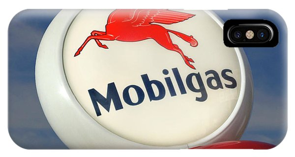 Gas Station iPhone Case - Mobilgas Globe by Mike McGlothlen