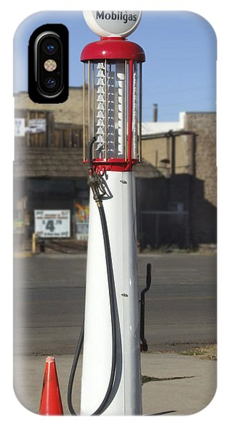 Gas Station iPhone Case - Mobilgas Visible Gas Pump - Wayne by Mike McGlothlen