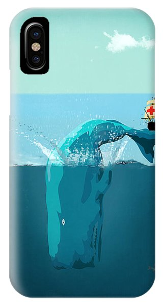 Whales iPhone Case - Moby Dick by Mark Ashkenazi