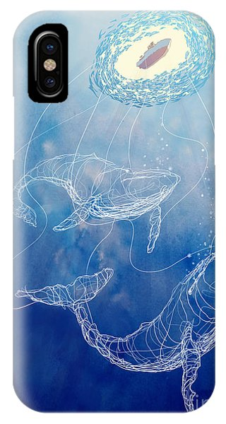 Fishing Boat iPhone Case - Moby Dick by Sassan Filsoof
