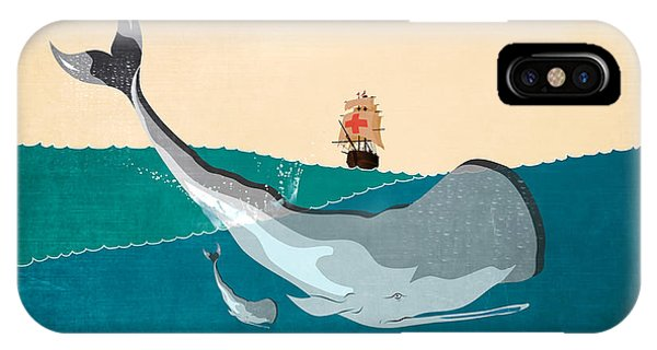 Whales iPhone Case - Moby by Mark Ashkenazi