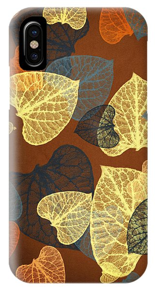 Mocha Abstract Leaves Square IPhone Case