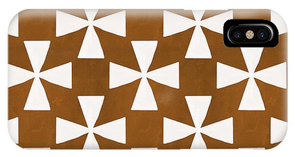 Diamond iPhone Case - Mocha Twirl by Linda Woods