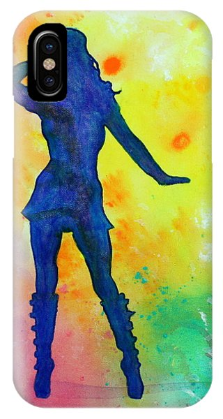 Mod Girl Female Silhouette Abstract IPhone Case