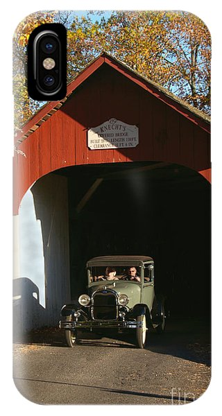 Model A Ford At Knecht's Bridge IPhone Case