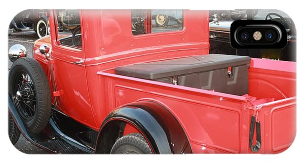 Model A Red Truck Phone Case by Connie Mueller
