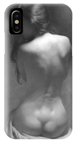 iPhone Case - Model Against The Dark Background 2002 by Denis Chernov
